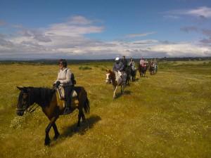 Ruta a caballo de varios días