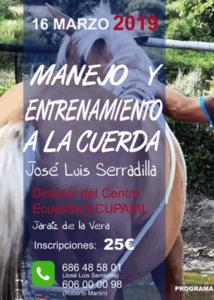 Manejo y entrenamiento a la cuerda @ Club Deportivo Equicentro